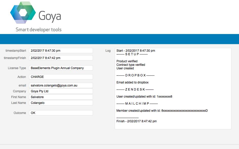 Goya Pty Ltd - plugin